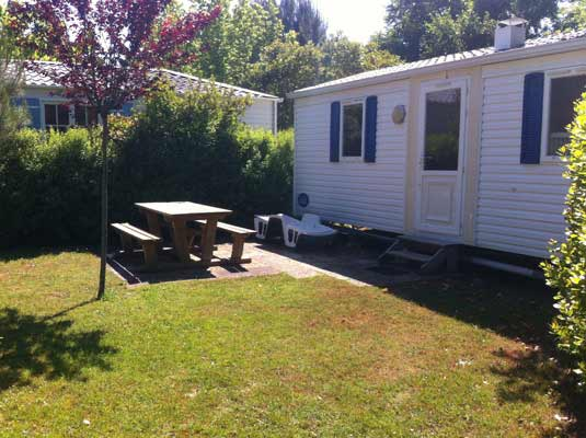 Mobil home Camping Landes