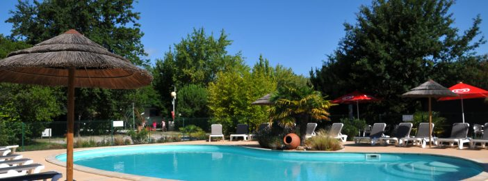 Piscine chauffée camping Biscarrosse