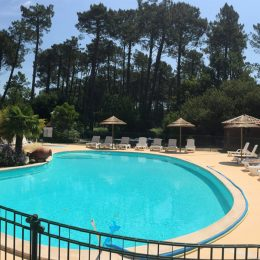 Piscine chauffée camping Landes