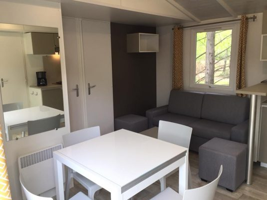 location mobil home landes