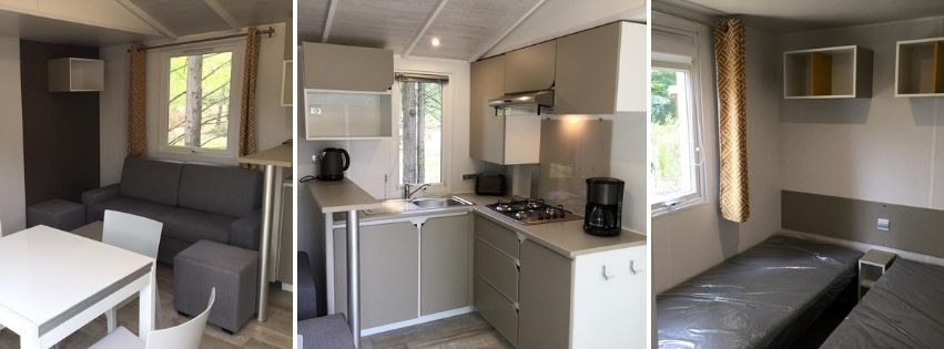 Mobil home 3 chambres a Biscarrosse camping En chon les Pins Mobil home 37