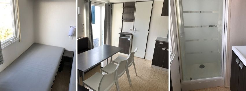 Mobil Home Biscarrosse 3 chambres parcelle 42