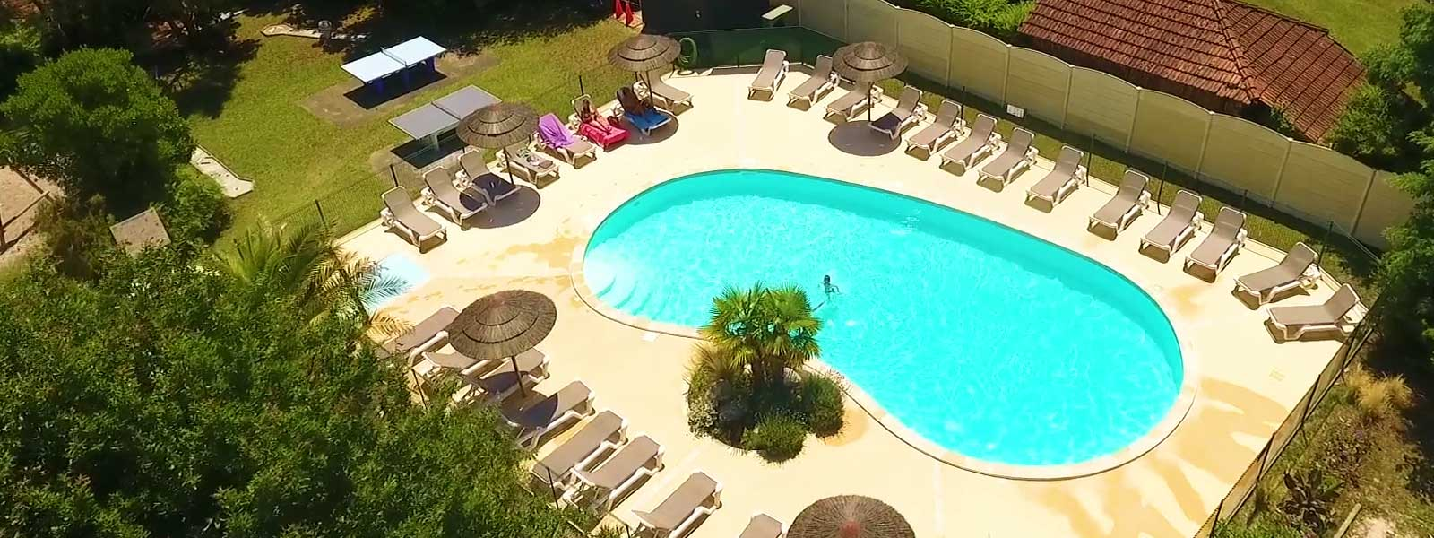 camping biscarrosse lac avec piscine