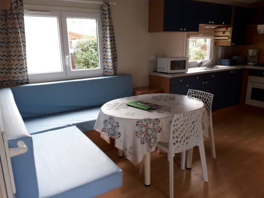 location 3 chambres Mobil home Bisacarrosse Parcelle 22