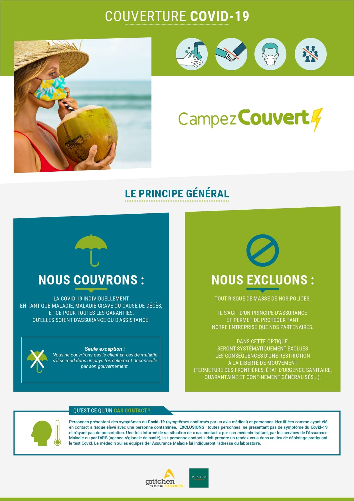 assurance COVID camping Biscarrosse